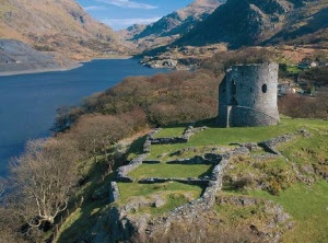 Dolbadarn Castle, guarding the Llanberis pass into Snowdonia