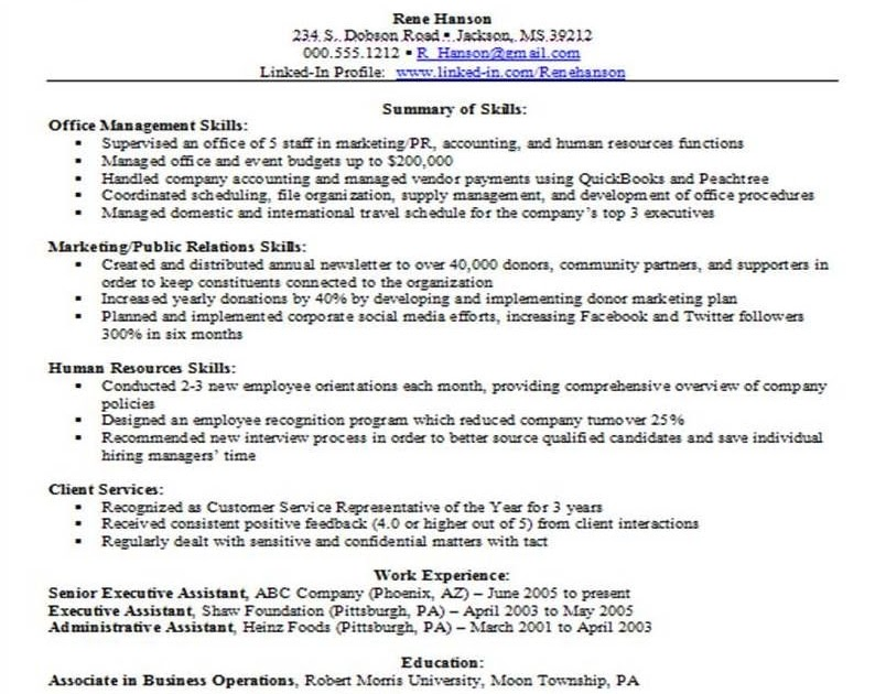 resume qualifications section  resume layout