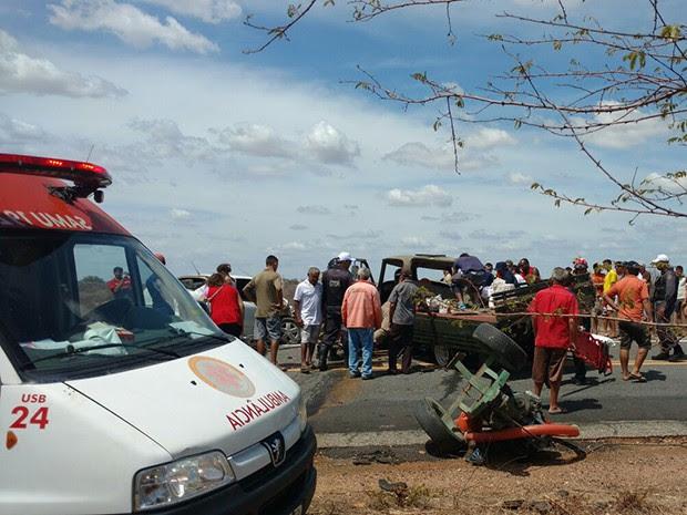 Seis pessoas morreram em acidente na BR-427 na região do Seridó potiguar (Foto: Jair Sampaio)