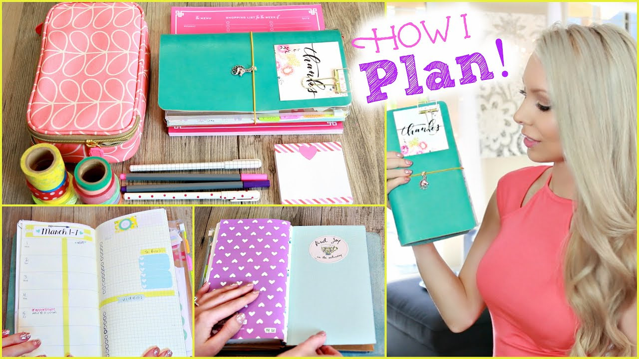 How I Stay Organized ♡ Inside My Planner - YouTube