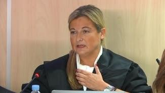 L'advocada de Manos Limpias, Virginia López Negrete, aquest matí, davant del tribunal del cas Nóos