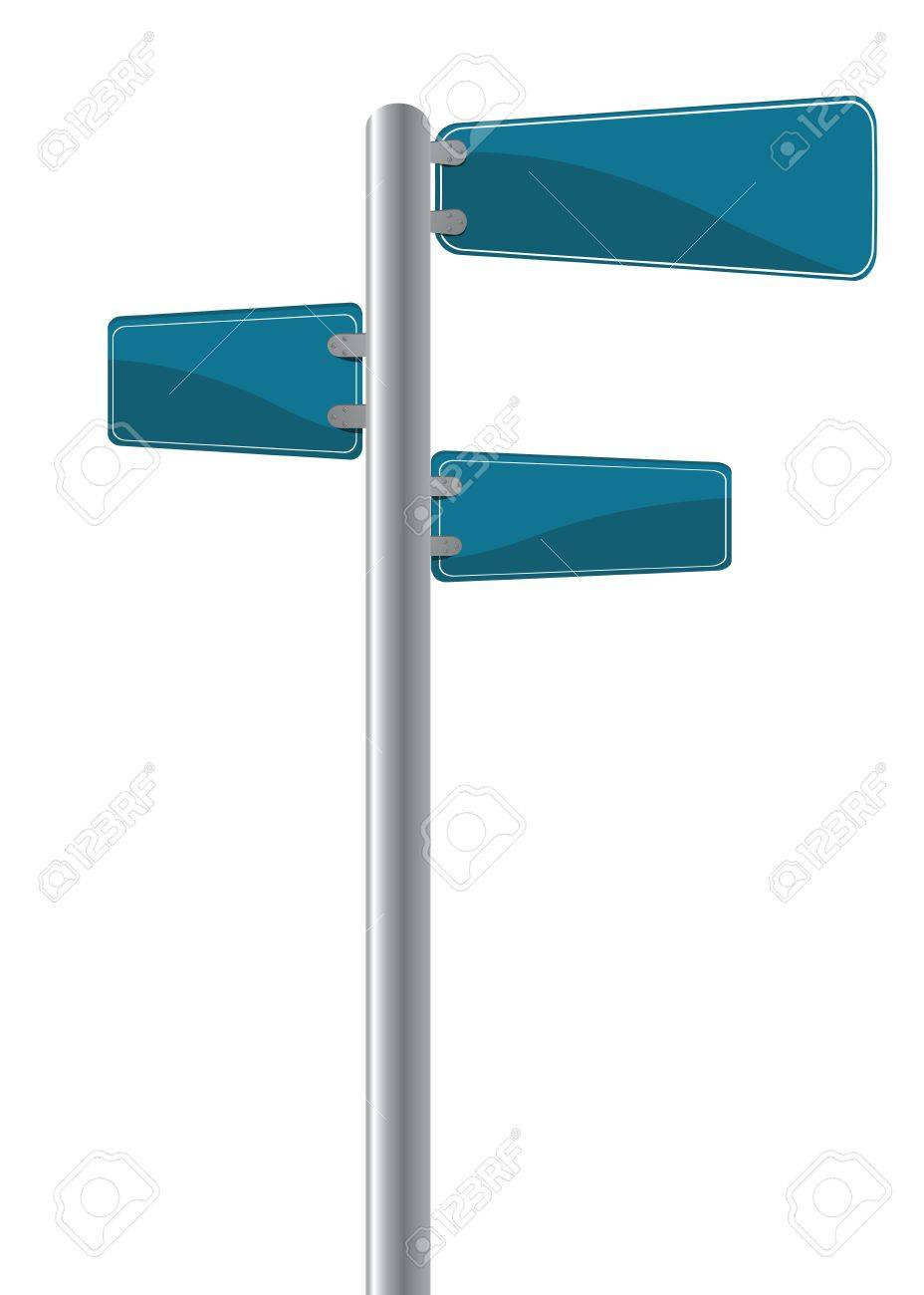 Editable Street Signs Over White Stock Photo, Picture And Royalty ...