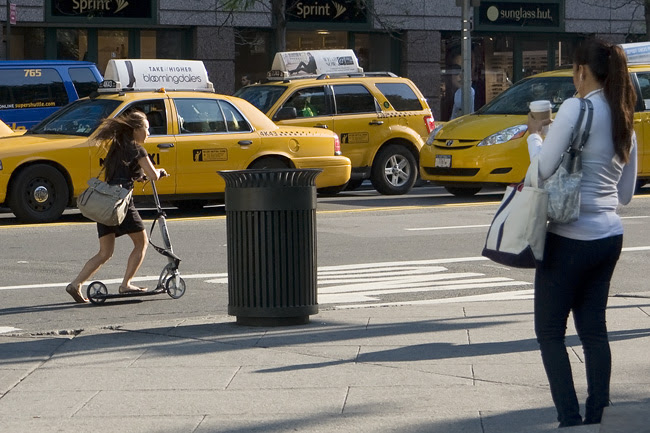 Scooting, NYC