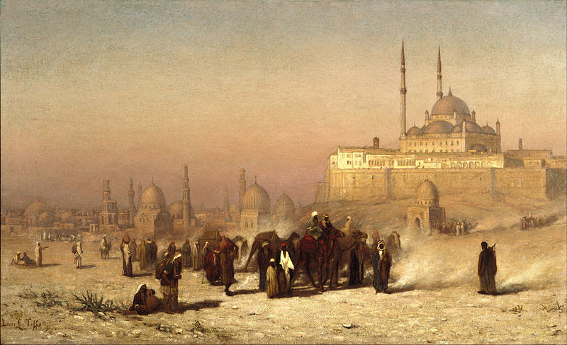File:Louis Comfort Tiffany - On the Way between Old and New Cairo, Citadel Mosque of Mohammed Ali, and Tombs of the Mamelukes - Google Art Project.jpg