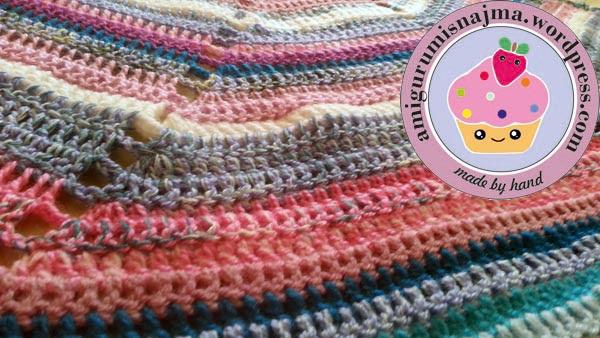 cyclone shawl amigurumisnajma crochet ganchillo chal