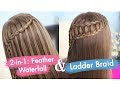 Waterfall and Ladder Braid Hairstyle