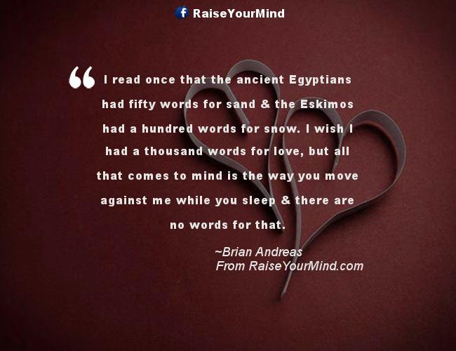 Love Quotes Sayings Verses I Read Once That The Ancient