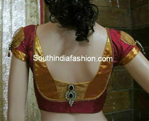 Stylish Blouse Back Neck Pattern for Silk Sarees