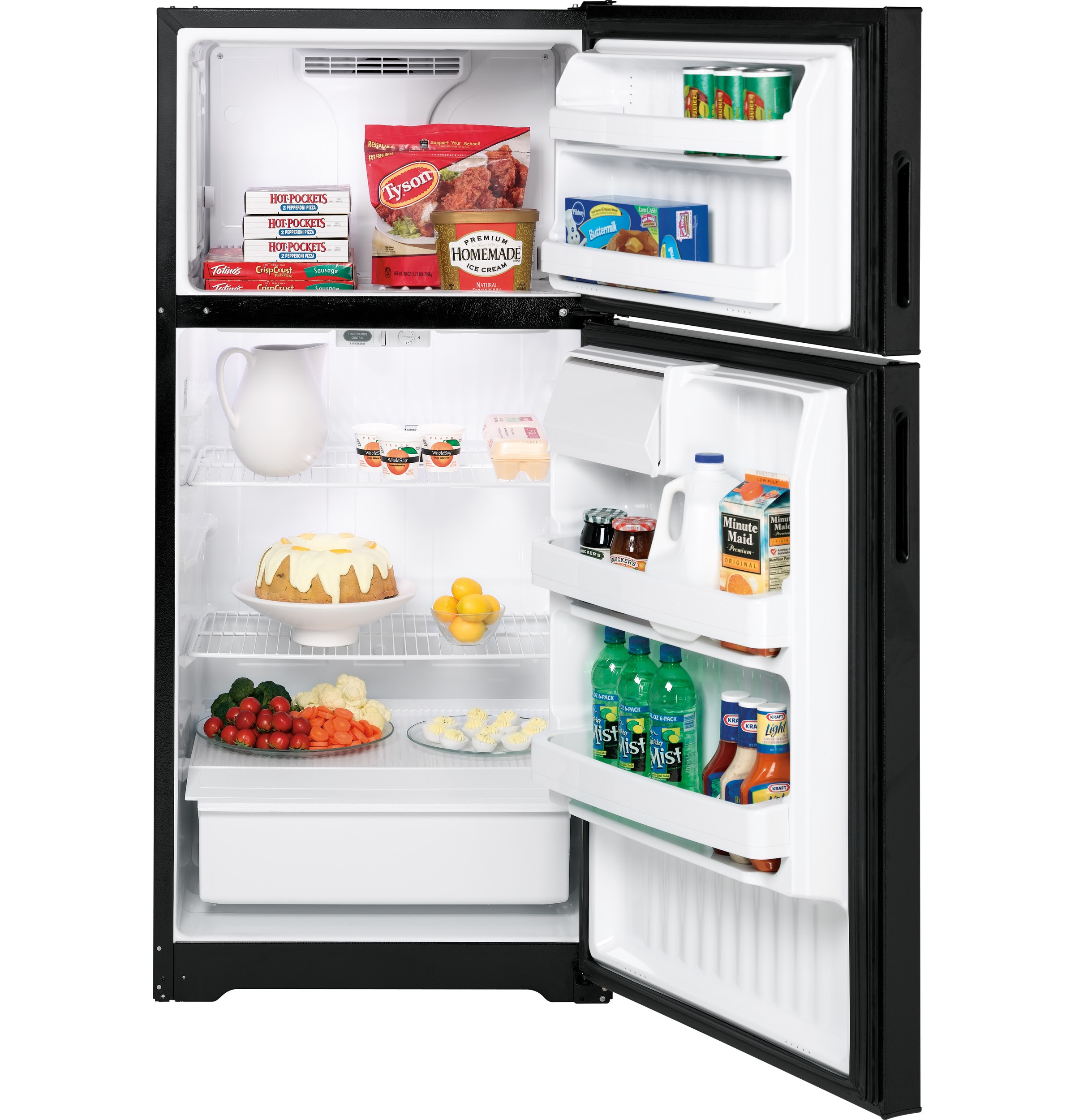 Americana 15 6 Cu Ft Top Freezer Refrigerator A3316ABSBB