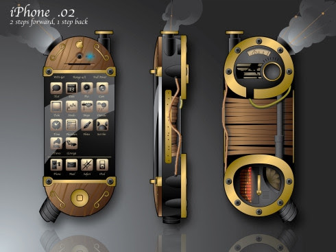 mobile phone steampunk style