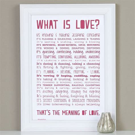 'What is Love?' Poem Print   Wedding in a Teacup