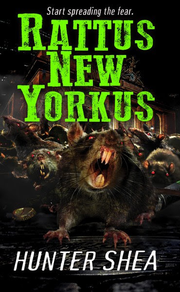 Book Cover for horror novel Rattus New Yorkus from the One Size Eats All series by Hunter Shea.