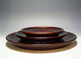 漆芸作品-8寸皿・6寸皿・5寸皿