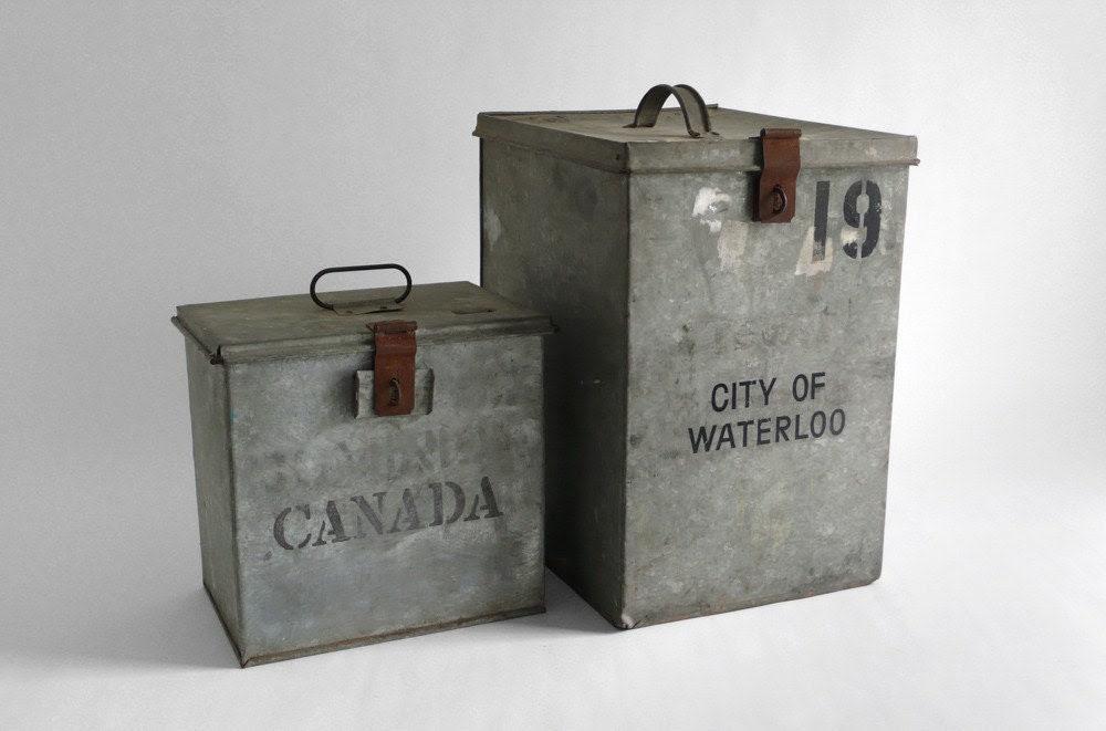 Large Metal Drop Box
