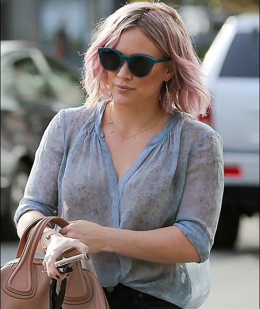 Here's my thing: Hilary Duff is see through, may be braless