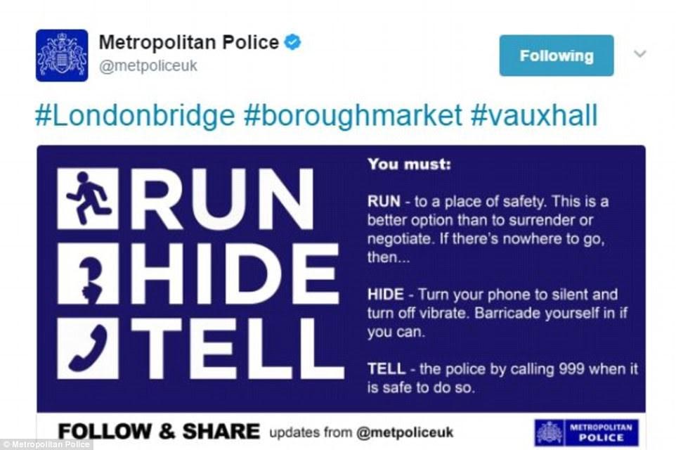 Οι οδηγίες της αστυνομίας: 'Τρέξε, κρύψου, ενημέρωσε'