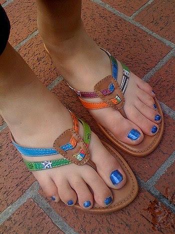 Cute feet in Cute Flip Flops