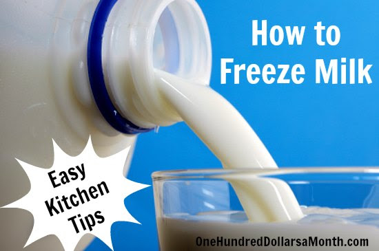 How to Freeze Milk - One Hundred Dollars a Month