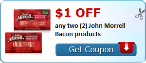 $1.00 off any two (2) John Morrell Bacon products