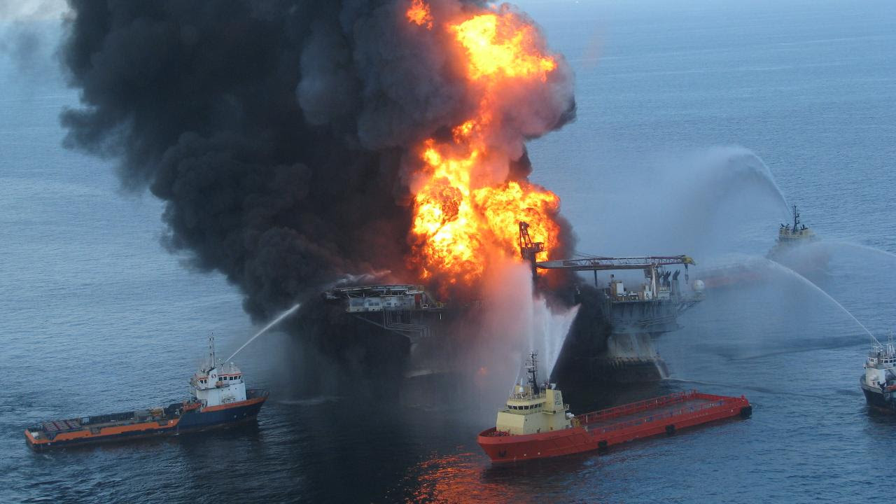 """A BP oil rig called Deepwater Horizon exploded and would becomes the deepest-ever oil spill. Image credit"""" Ideum - ideas + media/Flickr"""