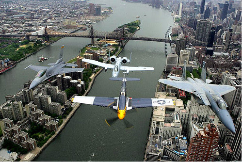 Aerial View 2004 with War Planes