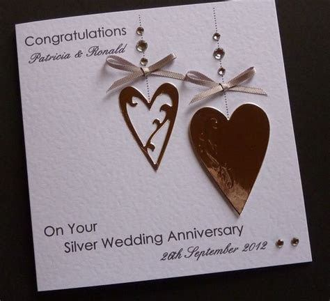 about Handmade Personalised Silver / 25th Wedding