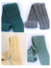 Forest Trails Cable Scarves