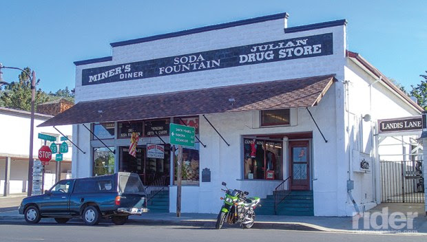 A landmark since the 1930s, the Julian Drug Store sports an old-time soda fountain and candy mine.