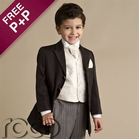 Baby Boys Black 4 piece Prince Edward Formal Prom Wedding