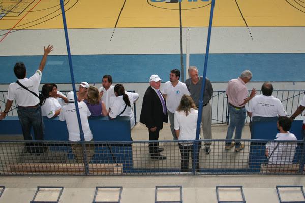 Os delegados sul-americanos estiveram no ginásio da UFRN e aprovaram o local para as disputas