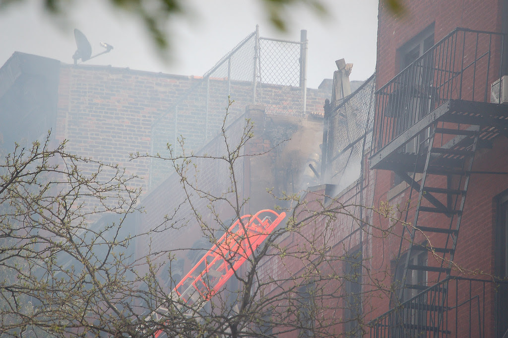 Fire on E 7th St