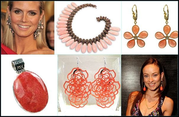 Celebrity Coral Jewelry