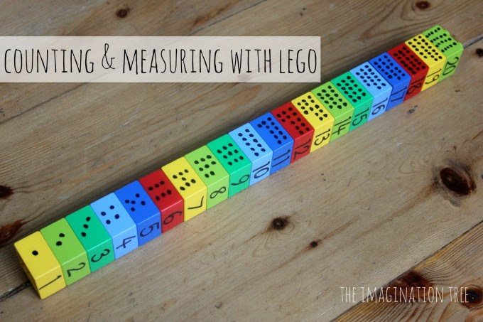 Counting and measuring with lego: preschool maths game!