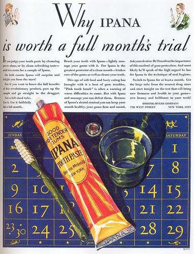 Ipana Toothpaste ad, 1928