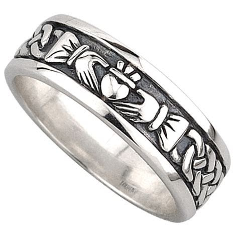 Claddagh Ring   Men's Sterling Silver Celtic Claddagh