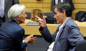 Lagarde and Greek finance minister Euclid Tsakalotos in Brussels at the weekend.