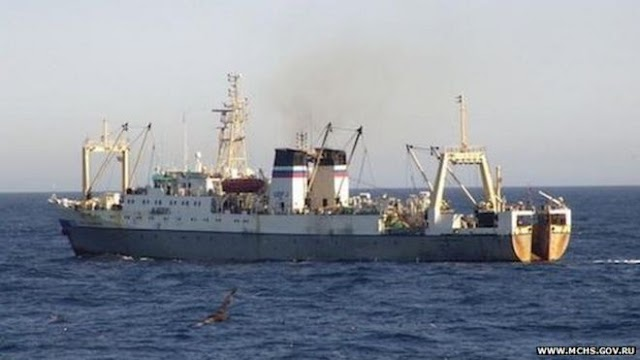 Late update : Russian trawler sinks with 54 dead