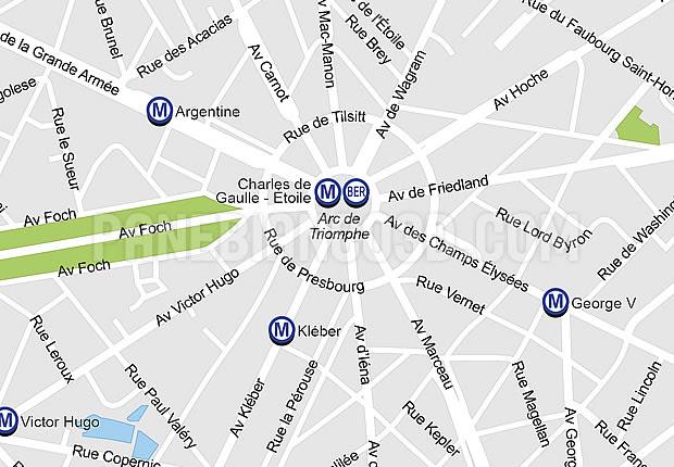 パリ市のベクトル地図epsとaiの中で編集可能なマップ