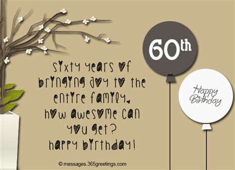 60th Birthday Wishes, Quotes and Messages   365greetings.com