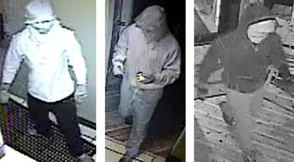 The Brevard County Sheriff's Office is seeking to identify the suspects responsible for the burglary of The Fat Snook restaurant. (BCSO image)