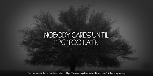 Quotes About Nobody Caring 46 Quotes