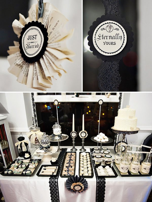 Vintage Gothic Wedding Dessert Table Hostess With The Mostess