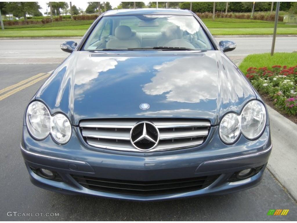 Cadet Blue Metallic 2007 Mercedes-Benz CLK 350 Coupe ...