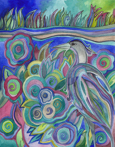Heron Along the Shore by megan_n_smith_99