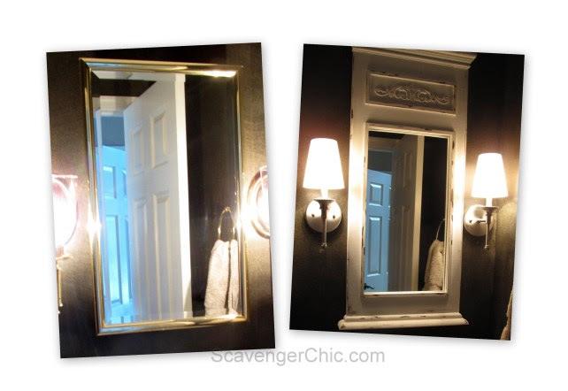 Updated Trumeau Mirror Medicine Cabinet DIY