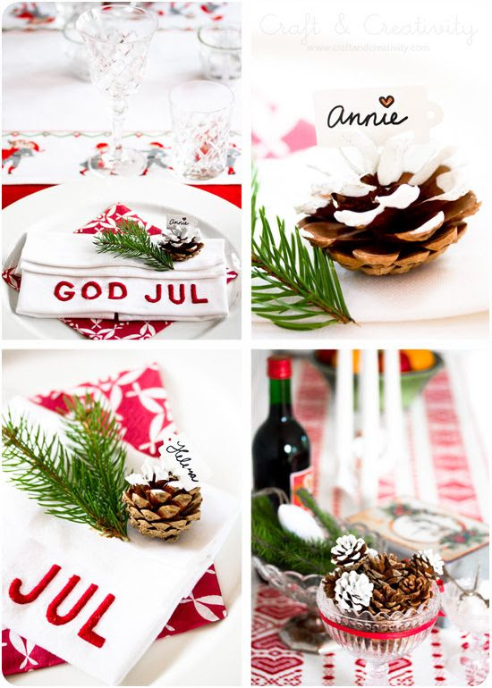 Christmas table setting - by Craft & Creativity