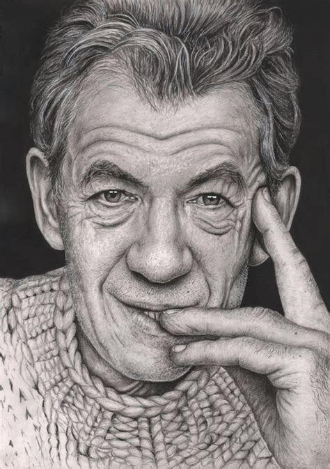 ian mckellen graphite portrait   tacular artist
