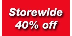 Storewide 40% off!