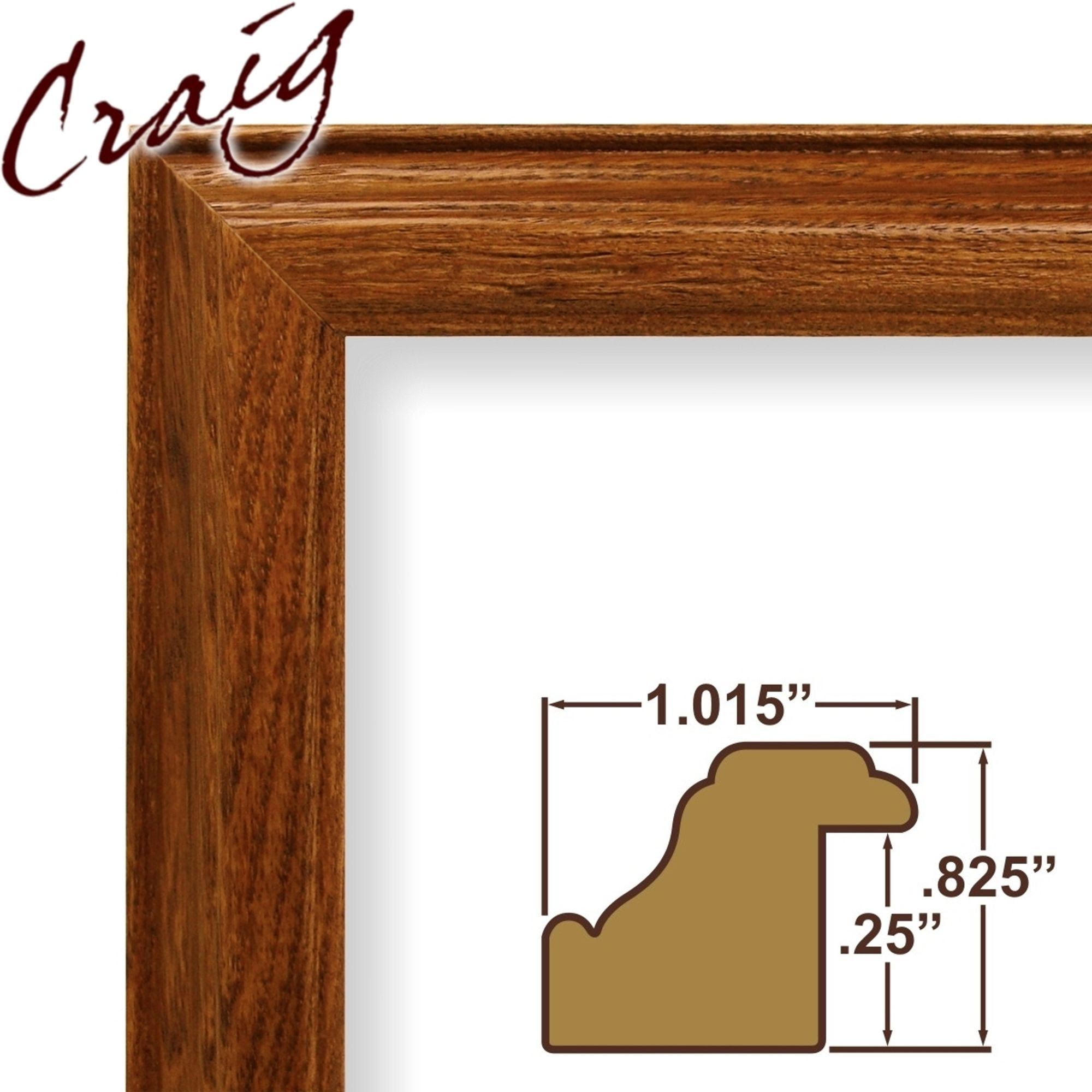 Craig Frames Inc 12 X 16 Brown Wood Grain Finish 1015 Inch Wide