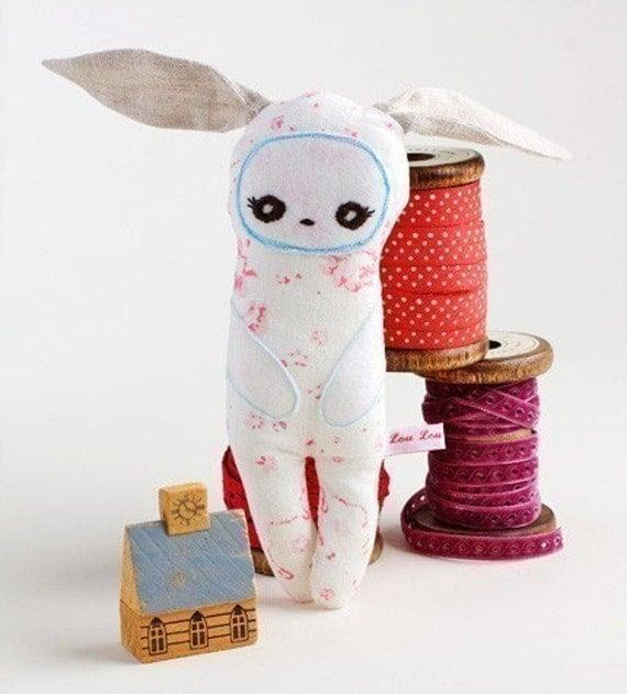 SALE-LAST ONE-Lapin de Lune-Handmade Rabbit Plush